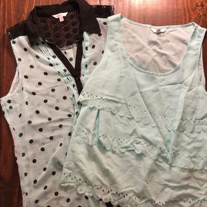 ✨2 for $12✨ 2 sleeveless mint blouses size L